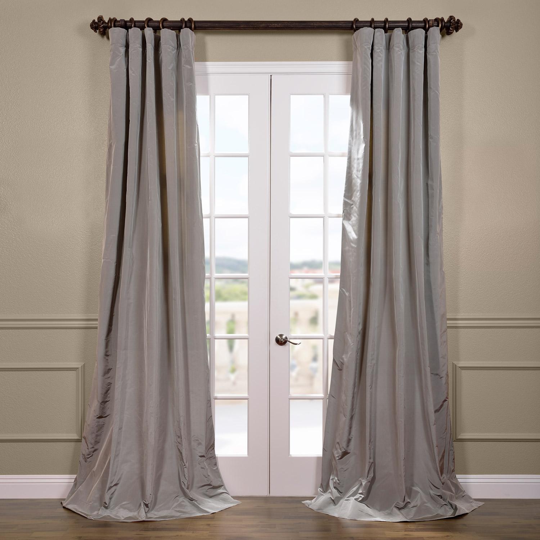 Nickel Silk Taffeta Curtain
