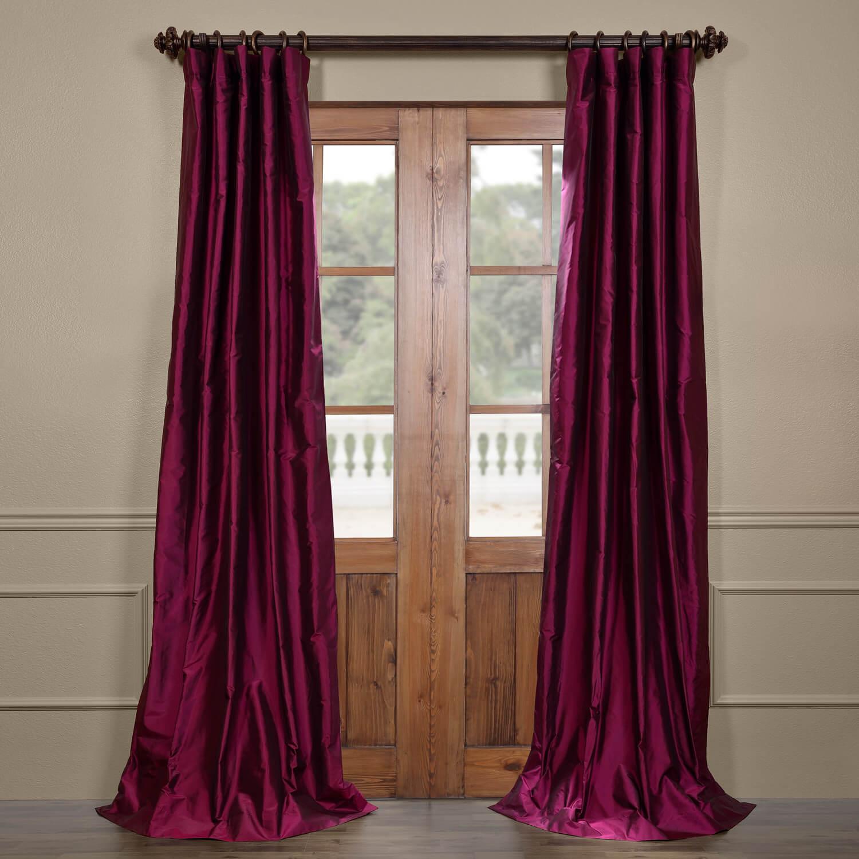 Chambord Silk Taffeta Curtain