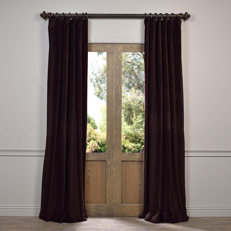 Espresso Caponata Cotton Velvet Curtain