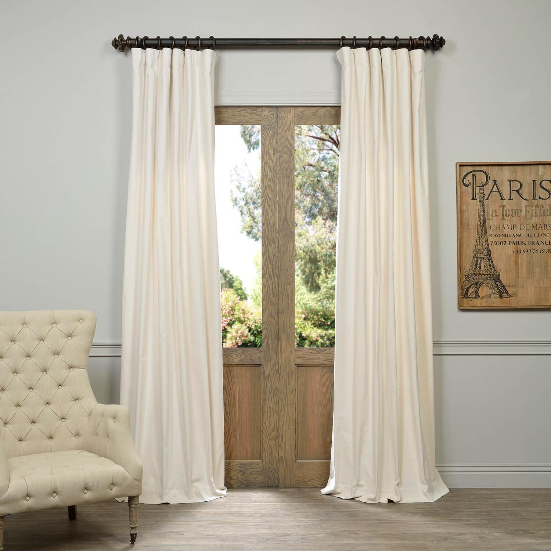 Ivory Vintage Cotton Velvet Curtain
