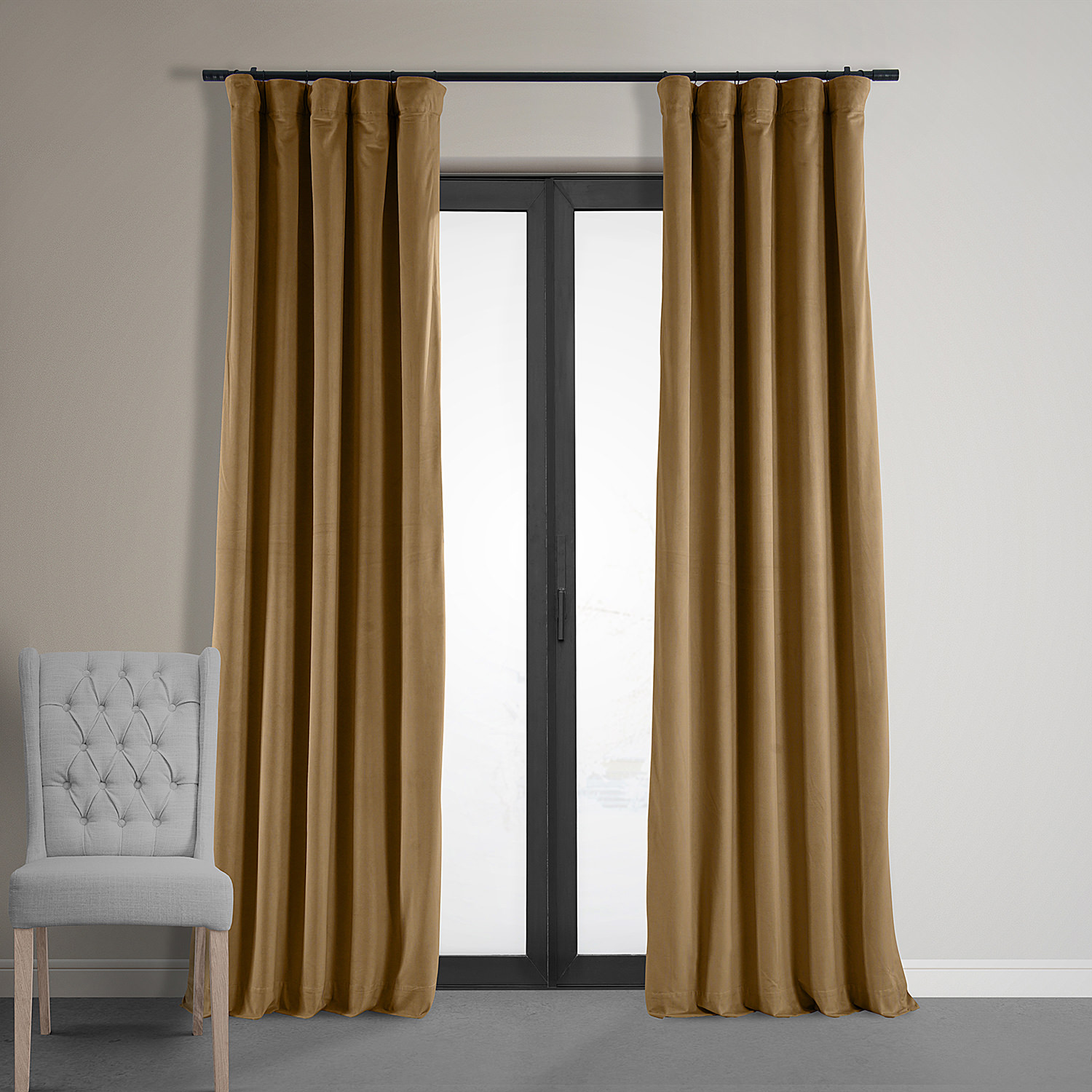 Signature Amber Gold Blackout Velvet Curtain