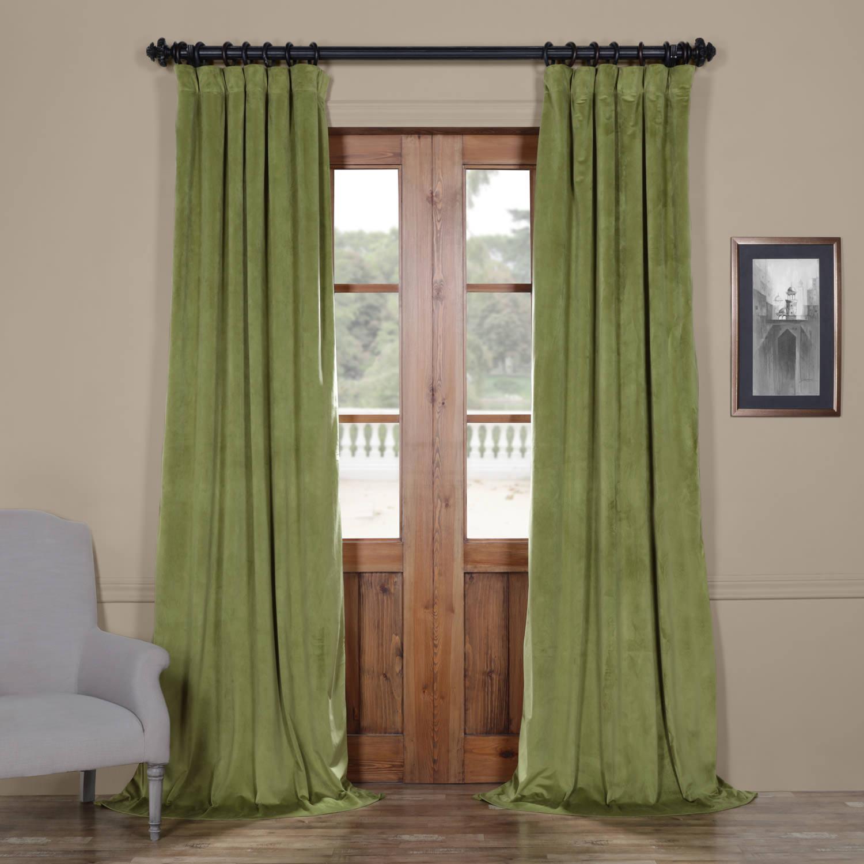 Signature Pernial Green Blackout Velvet Curtain