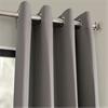 Neutral Grey Grommet Blackout Curtain