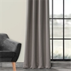Pole Pocket Neutral Grey Blackout Curtain