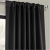 Pole Pocket Jet Black Blackout Curtain