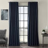 Navy Blue Pole Pocket Blackout Curtain