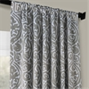 Abstract Lunar Grey Blackout Curtain