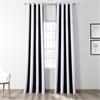 Awning Black & White Stripe Grommet Blackout Curtain