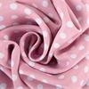 Pink Polka Dot Blackout Back-Tab Pole Pocket Curtain