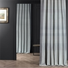 Teal & Natural Hand Weaved Cotton Curtain