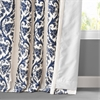 Florence Blue Embroidered Cotton Crewel Curtain