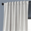 Moon Glow Textured Dupioni Silk Curtain