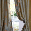 Trophy Sea Blue Thai Silk Curtain