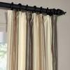 Buff Cream and Samoan Sand Silk Stripe Curtain