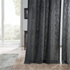 Slate Grey Heavy Faux Linen Curtain