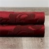 Astoria Red & Bronze French Pleat Faux Silk Jacquard Curtain
