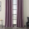 Smokey Plum Grommet Blackout Vintage Textured Faux Dupioni Silk Curtain