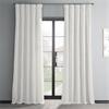 Off White Textured Vintage Faux Dupioni Silk Curtain
