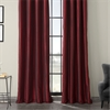 Ruby Grommet Blackout Vintage Textured Faux Dupioni Silk Curtain