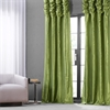 Fern Ruched Faux Solid Taffeta Curtain