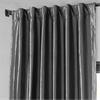 Graphite Blackout Faux Silk Taffeta Curtain