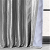Platinum Blackout Faux Silk Taffeta Curtain