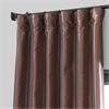 Copper Brown Blackout Faux Silk Taffeta Curtain