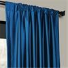 Azul Faux Silk Taffeta Curtain