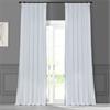 White Faux Silk Taffeta Curtain