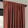 Paprika Faux Silk Taffeta Curtain