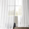 White Orchid Faux Linen Sheer