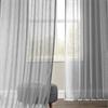 Nickel Faux Linen Sheer Curtain