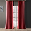Bold Red Thai Silk Curtain
