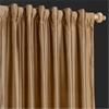 Taupe Gold Thai Silk Curtain