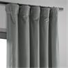 Signature Silver Grey Blackout Velvet Curtain