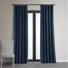 Signature Midnight Blue Blackout Velvet Curtain