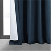 Signature Midnight Blue Blackout Velvet Curtain
