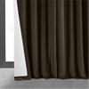 Signature Java Double Wide Velvet Blackout Pole Pocket Curtain
