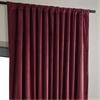 Signature Burgundy Double Wide Velvet Blackout Pole Pocket Curtain