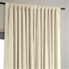 Signature Ivory Double Wide Velvet Blackout Pole Pocket Curtain
