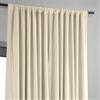 Signature Ivory Double Wide Velvet Blackout Pole Pocket Curtain