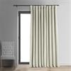 Signature Off White Double Wide Velvet Blackout Pole Pocket Curtain