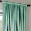 Signature Aqua Mist Doublewide Blackout Velvet Curtain