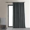 Signature Natural Grey Doublewide Blackout Velvet Curtain