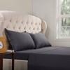 Cotton Dark Grey Bed Sheet Set