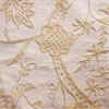 Lorraine Embroidered Cotton Crewel Fabric