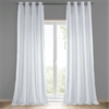 White Grommet Heavy Faux Linen Curtain