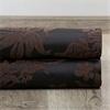 Magdelena Black & Cognac Faux Silk Jacquard Fabric