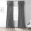 Millstone Gray Solid Cotton Tie-Top Curtain