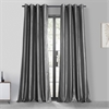 Graphite Grommet Blackout Faux Silk Taffeta Curtain